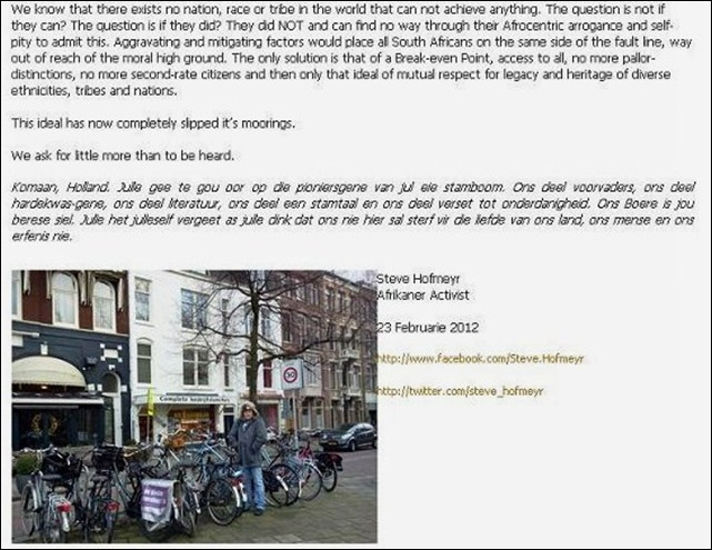 HOFMEYR STEVE BRIEF PAG2 AAN HOLLAND FEB 272 012
