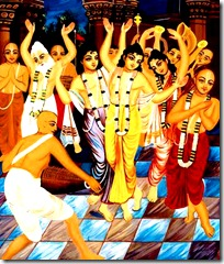 Lord Chaitanya's sankirtana party