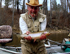 March 24, 2006 Peter Z with a fat cutthroat trout on the Bitterroot