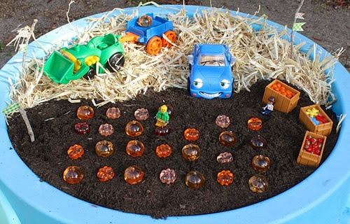 Pumpkin Patch Sensory Play from Buggy and Buddy