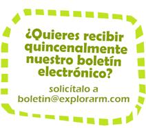 Image of Solicita el boletín quincenal a boletin@explorarm.com