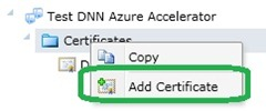 Add Certificate to the service