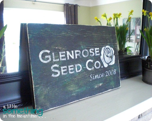 Glenrose Seed Co Sign