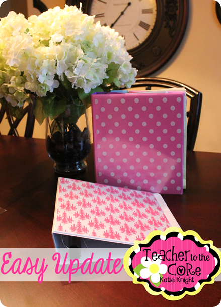 Making Life Pretty-  Updating Plain Old Folders into Fabulous Folders