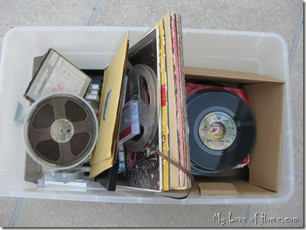 reel to reel tape, 45's