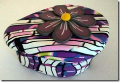 9 pink and purple tear drop box side view