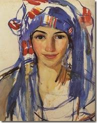 Zinaida-Serebriakova-Self-portrait-wearing-a-scarf-