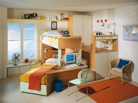 Kids bed room interior decorations 3