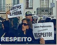 Professores pediram em São Bento - Respeito. Dez.2013