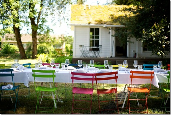 Tiny House Setting for a Summer Dinner by Jessica Helgerson Interior Design, photo Lincoln Barbour