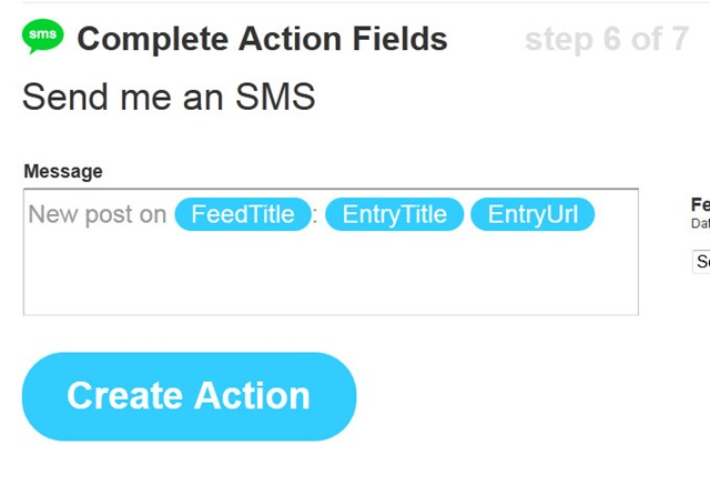 step 11 - Create action