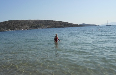 Mom in the Aegean