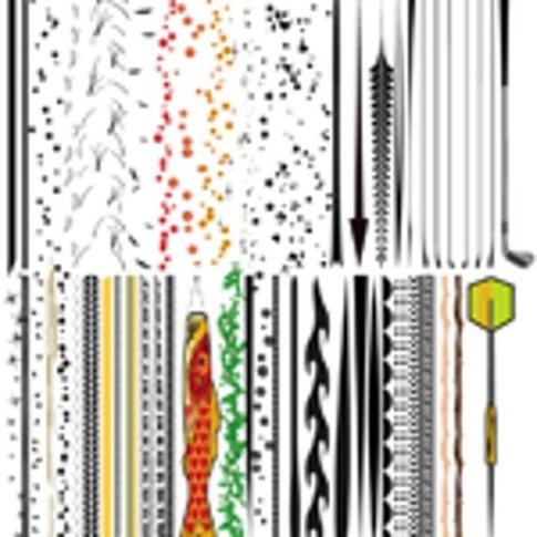 Pinceles de líneas gruesas
