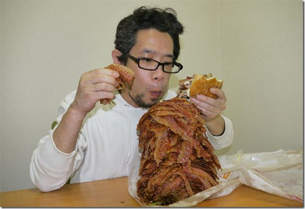 Hamburguer com 1.050 tiras de bacon (6)