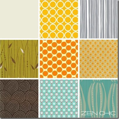 Fabric choice yellow and turqoise