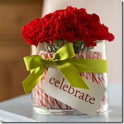 peppermint stick vase