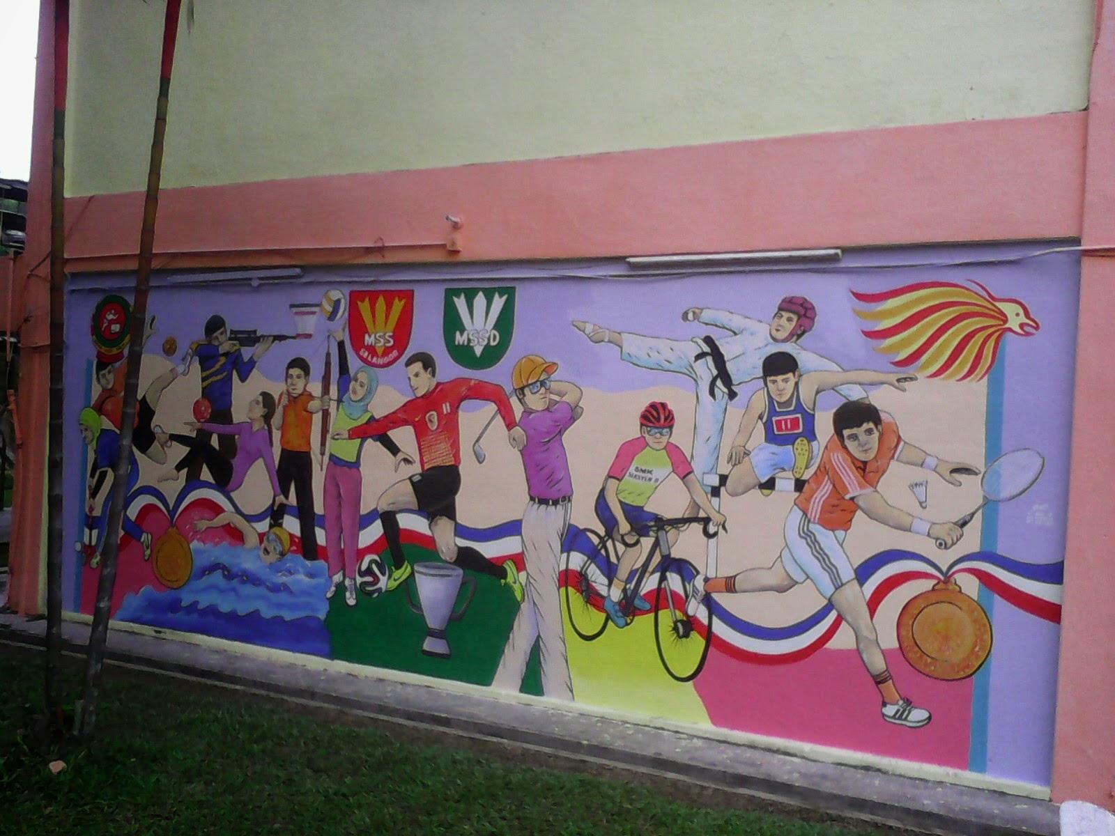 Pin mural sekolah on pinterest for Mural tadika