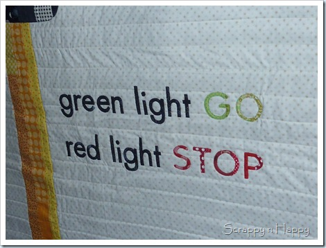 Traffic light quilt