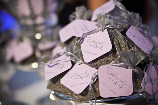 Lavender sachets from Claudia and Jennifer of the Wedding Library.