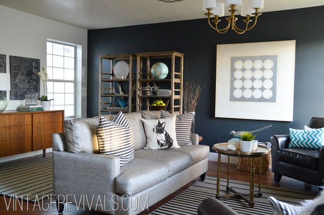 Warm and Moody Living Room Makeover @ Vintage Revivals