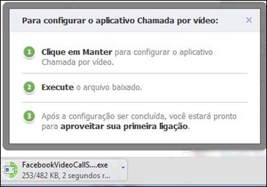 Configurando chamada de vídeo no Facebook