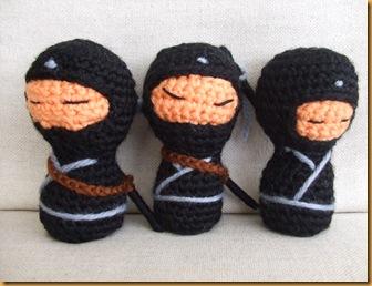 kokeshi ninja amigurumi