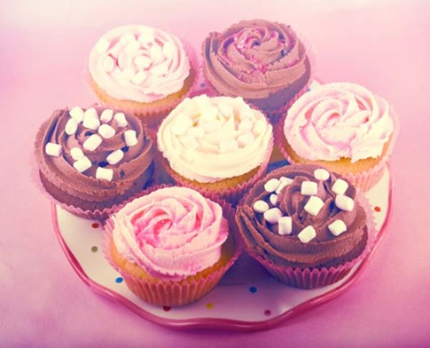 15. Efecto Foto Pink Cupcake