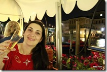 Um brinde ao nosso amor em Veneza!