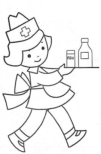 enfermera para colorear - Forte.euforic.co