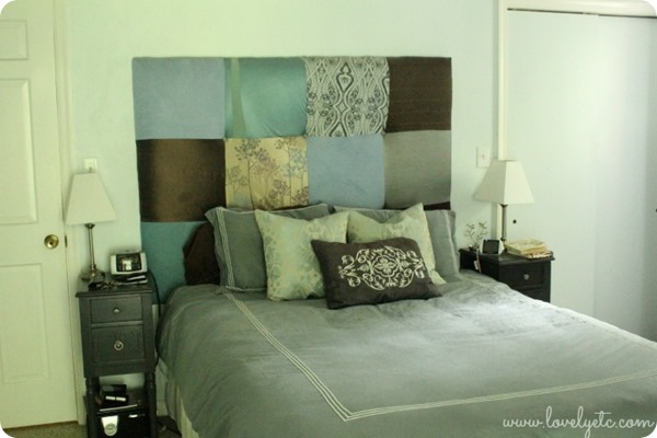 patchwork upholstered headboard