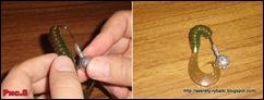 Как правильно  насадить твистер на джиг головку