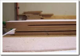 ranura del marco y del tablero para insertar la galleta de union