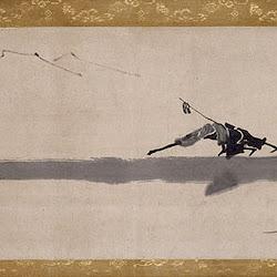 Hakuin Ekaku, 2 Blind Men Crossing Log Bridge, Edo xviii