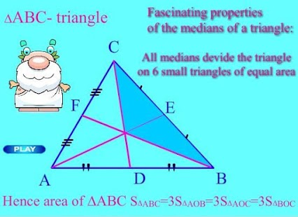 Live Geometry Triangle Medians - screenshot