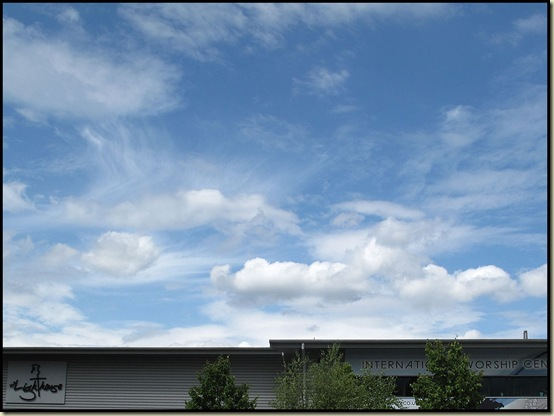 Skyscape over the International Worship Centre