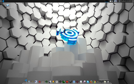 UbuntuStudio 9.04 desktop awn dock for flavor
