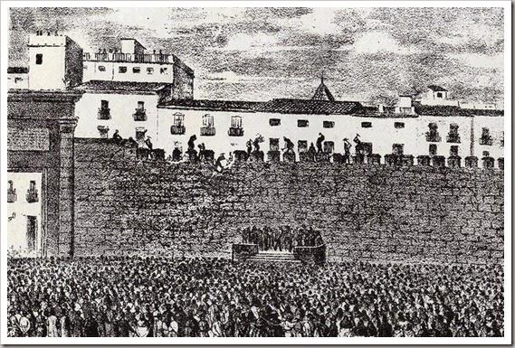 Derribo muralla en 1865