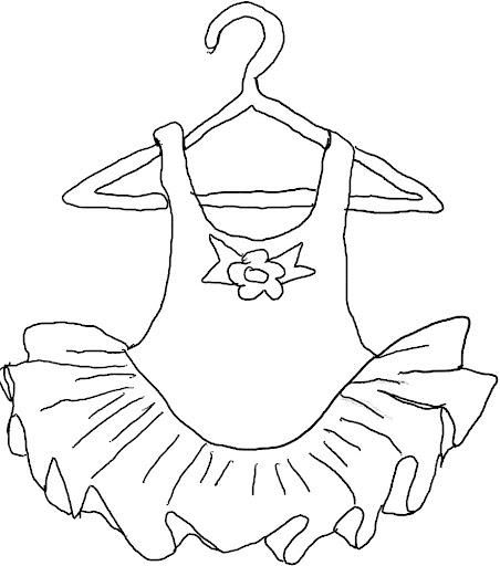 trajes de ballet para colorear dibujos para colorear
