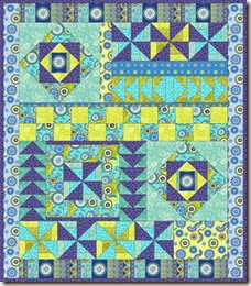 assymetrical Gypsy-Breeze-Quilt by Phyllis Dobbs on quiltinggallery dot com
