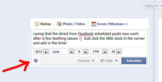 scheduled posts on facebook
