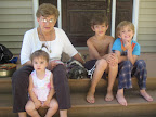 Julie has been telling her grandkids about her rewarding experience with adoption.  Here are Theresa, Julie, Rosie, John and Luke