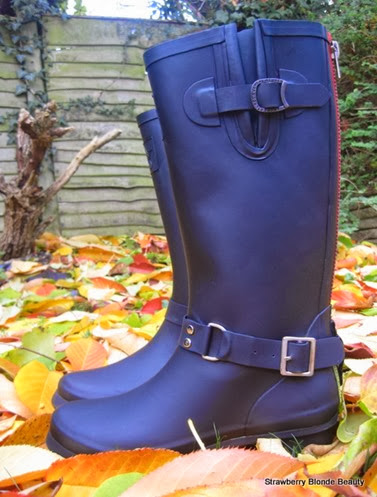 Luxe-Triumph-Biker-Wellies-black