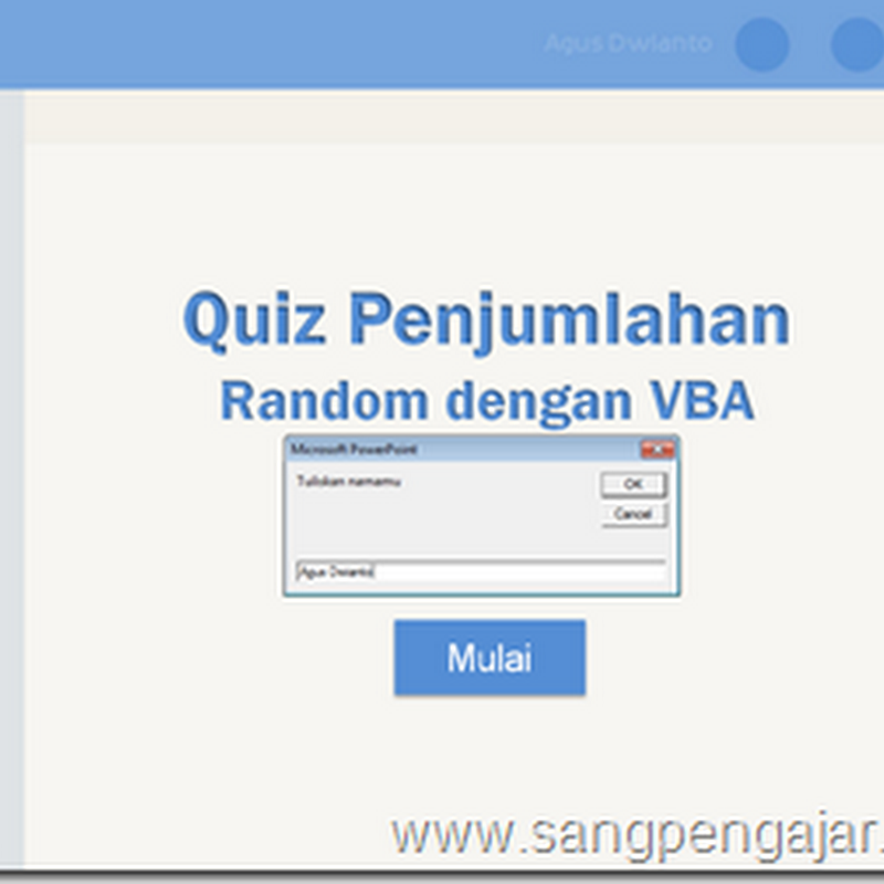 Tutorial Membuat Quiz Penjumlahan Secara Random dengan VBA