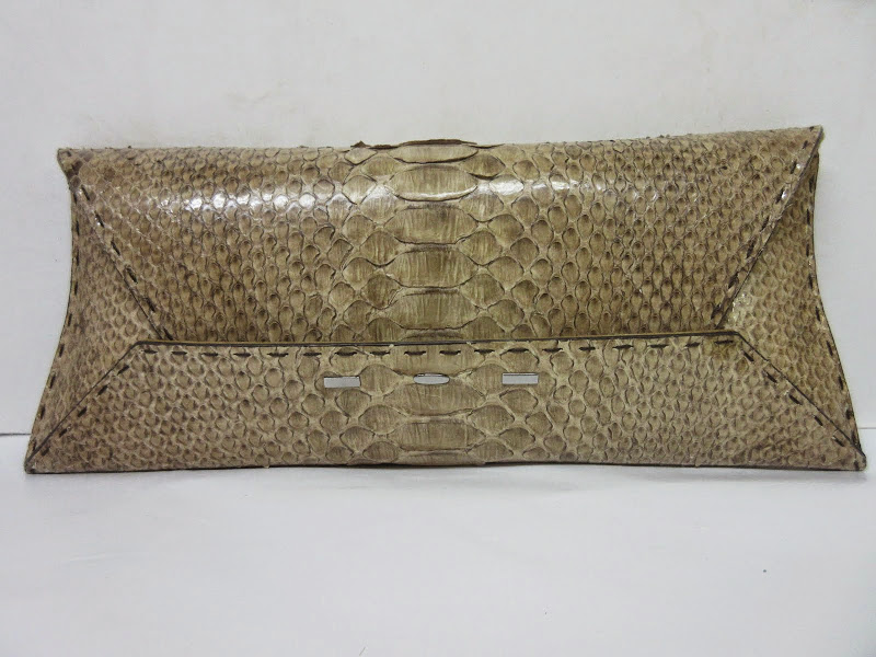 VBHManila Stretch Python Clutch Bag