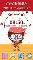 Screenshot of Cute Bear Clock Widget