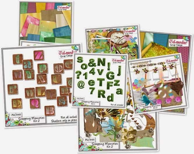 Exibir Scrapping Memories Kit