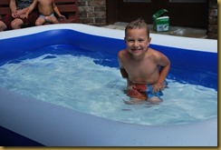 Connor in pool