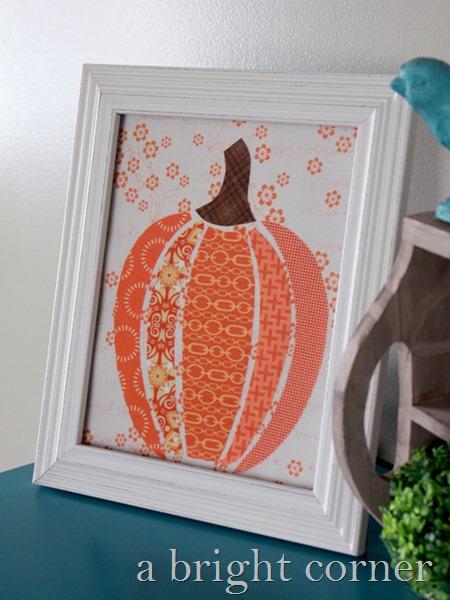 scrappy pumpkin art