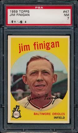 1959 Topps 47 Jim Finigan dot
