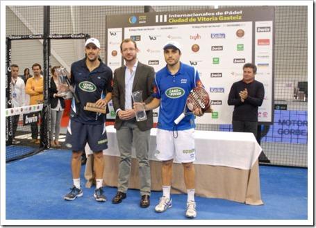 Los números uno del circuito bwin Padel Pro Tour derrotaron a Lima-Mieres, y levantaron su duodécimo título de la temporada en Vitoria.
